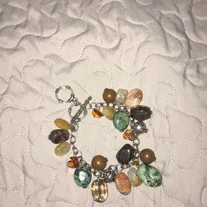 Silpada stone charm bracelet